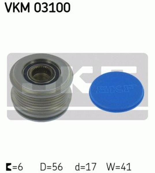 Skf Vrijloop koppeling dynamo VKM 03100
