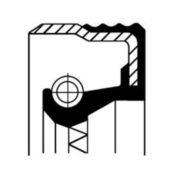 Corteco Differentieel keerring / Krukaskeerring / Nokkenas keerring / Oliepomphuis keerring / Tussenaskeerring 12012709B