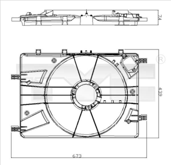 Tyc Ventilatorhouder 825-0016-1