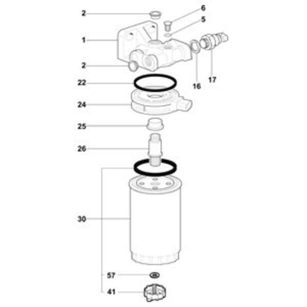 Delphi Diesel Brandstoffilterhuis 5872152